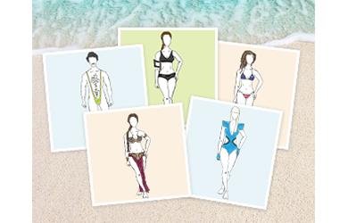 Stars im Bikini und am Strand