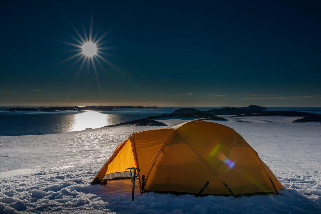 Landausflug Hurtigruten Camping in der Antarktis