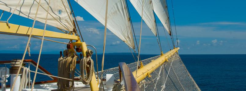 Blick vom Deck der Star Clipper