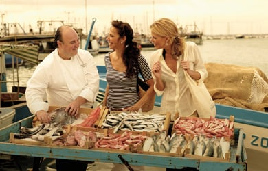 Shopping with the chef bei Seabourn
