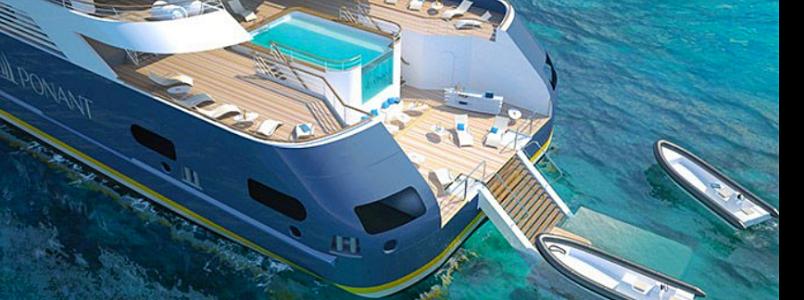 Innovatives Design und spannende Neuheiten wie ein Infinity Pool und eine Marina am Heck der Ponant-Yachten zählen zu den Kreuzfahrttrends 2019
