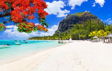 Bilderbuchstrände am türkisblauen Meer auf Mauritius