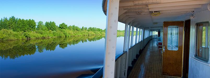 An Bord eines Flusskreuzfahrtschiffs