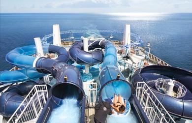 MSC Bellissima Aqua Park water slides