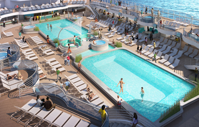 Sky Princess Pool Deck