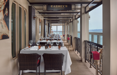 Cagneys restaurant at The Waterfront on Norwegian Joy cruise ship