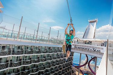 Zipline auf der Symphony of the Seas