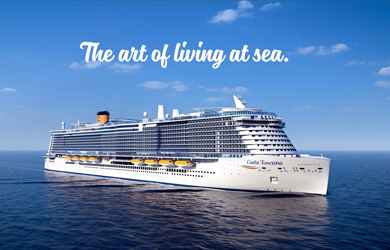 Das neue Flagschiff der Costa Kreuzfahrten - Costa Toscana