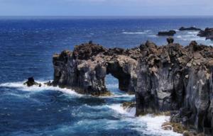 Steinformation an der Küste La Gomeras