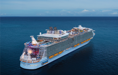 Die Harmony of the Seas der Royal Caribbean Cruises