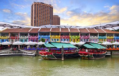 Der Clarke Quay zählt zu den Singapur-Highlights