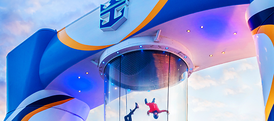 Bodyflying an Bord der Odyssey of the Seas von Royal Caribbean