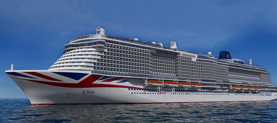 Ein weiteres tolle Kreuzfahrtschiff 2020: Die Iona von P&O Cruises