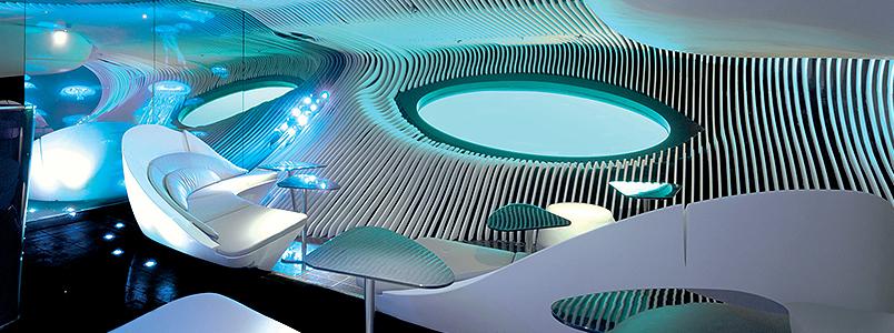 Auch die Le Jacques Cartier ist mit der multisensorischen Unterwasser-Lounge namens Blue Eye ausgestattet.
