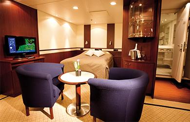 Innen-Suite auf der MS Astor