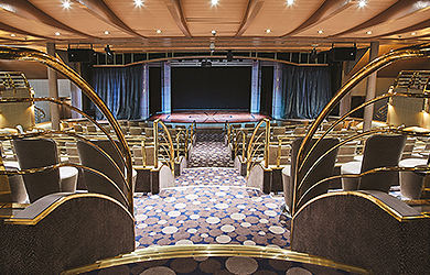 Theater an Bor des Silversea-Flottenneulings