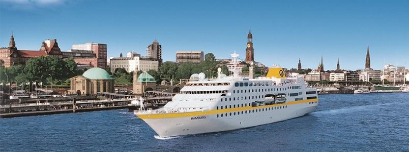 Auch die MS Hamburg läuft die Hansestadt an