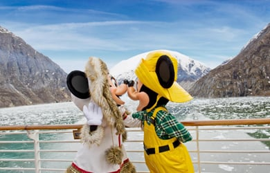 Disney Cruise Line Mickey Mouse in Alaska