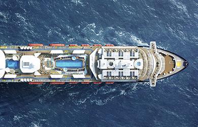 Blaue Reisen mit der Mein Schiff 2