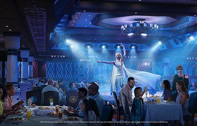 Disney Wish Theater Dinner Frozen