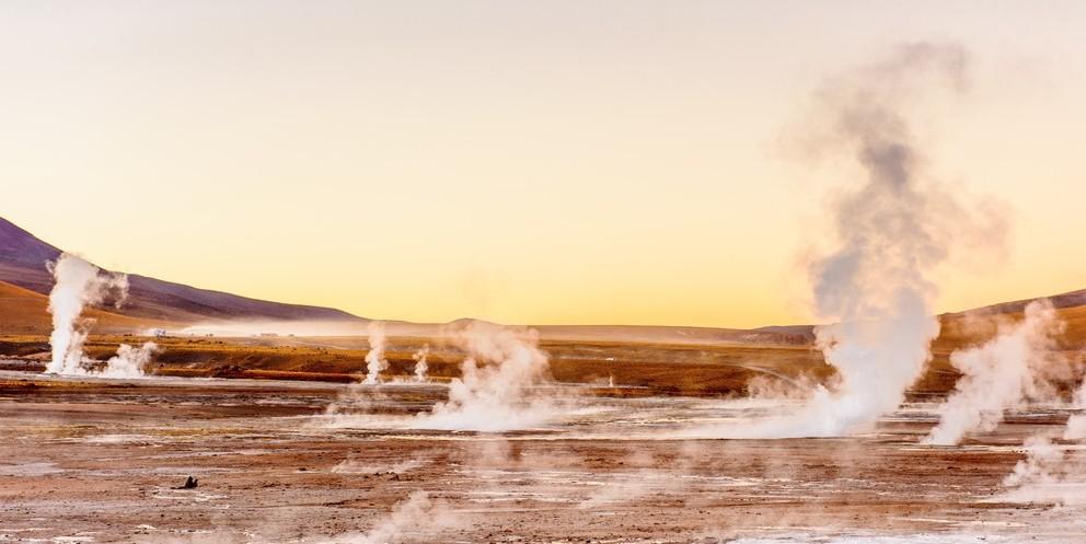 Salzsee in Atacama-Wüste