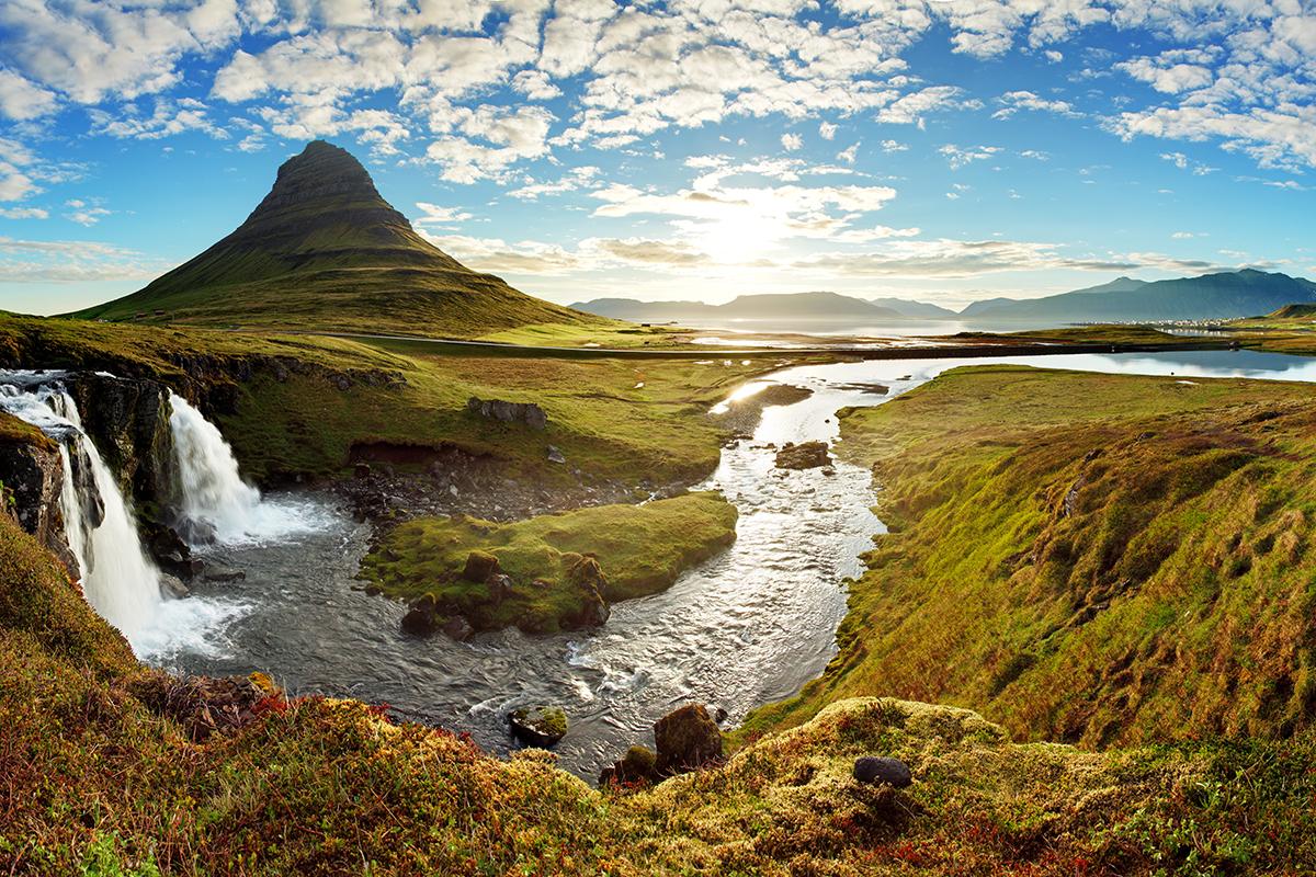 Frisches Sommerklima in Island